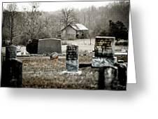 Graveyard Barn Greeting Card