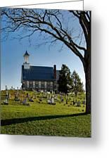 Graveyard Church Greeting Card