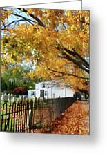 Graveyard In Autumn Greeting Card