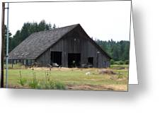 Gray Barn     Washington State Greeting Card