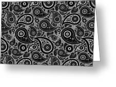 Gray Paisley Design Greeting Card