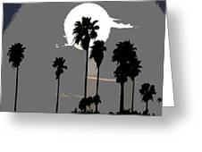Gray Palms Greeting Card