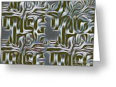 Gray Pattern,abstraction Greeting Card