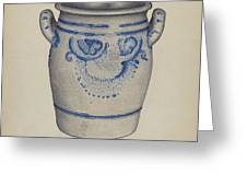 Gray Pottery Jar Greeting Card