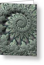 Gray Spiral Greeting Card