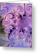 Gray To Lavender Greeting Card