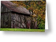 Gray Weathered Barns Number Three Greeting Card