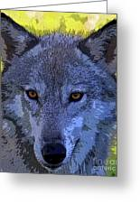 Gray Wolf Portrait Greeting Card