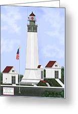 Grays Harbor Light Station Historic View Greeting Card
