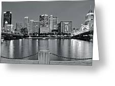 Grayscale By The River 2017 Greeting Card