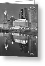 Grayscale Columbus Greeting Card