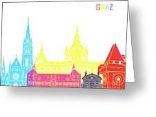 Graz Skyline Pop Greeting Card