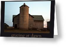 Grazing At Dawn Greeting Card