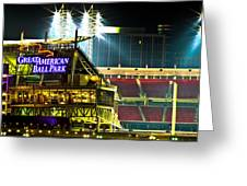 Great American Ballpark Greeting Card by Keith Allen