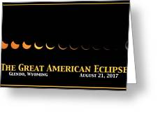 Great American Eclipse 2 Greeting Card