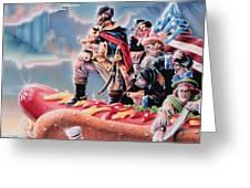 Great American Hot Dog Greeting Card