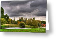 Great Barford River View Greeting Card