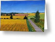 Great Bedwyn Wheat Fields Painting Greeting Card