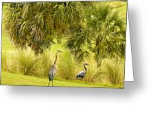 Great Blue Golfing Greeting Card