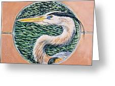 Great Blue Heron Greeting Card by Dy Witt