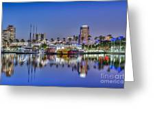 Great Blue Water Reflections Greeting Card