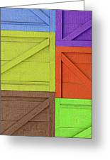 Great Crates - Multicolored Packing Boxes Stacked Greeting Card
