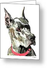 Great Dane Watercolor Greeting Card