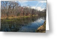 Great Falls Park Along The Towpath - Maryland - C And O Canal Greeting Card by Brendan Reals