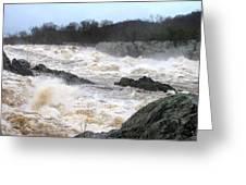 Great Falls Torrent Greeting Card