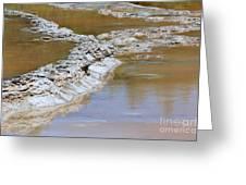 Great Fountain Geyser Firehole Lake Drive Greeting Card