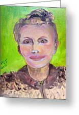 Great Grandmother Adora Greeting Card by Patricia Taylor