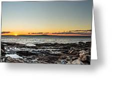 Great Head Beach Sunrise Greeting Card
