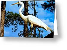 Great Heron Art Greeting Card