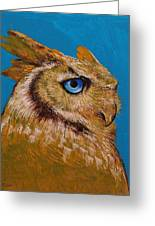Gold Owl Greeting Card