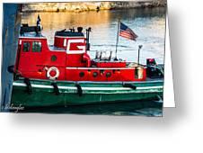 Great Lakes Towing Tug Florida Greeting Card