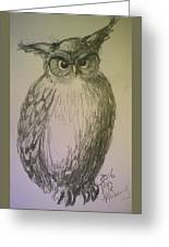 Great Owl Greeting Card