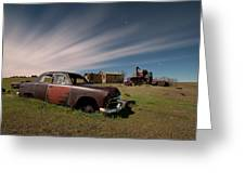 Abandoned Ford Car At Abandoned Farm Greeting Card