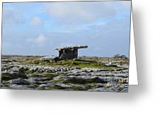 Great Rock Poulnabrone Portal Tomb Greeting Card