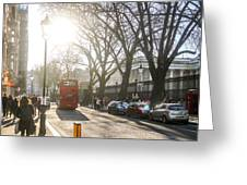 Great Russell St. In The Afternoon Greeting Card