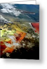Great Salt Lake From The Air Greeting Card