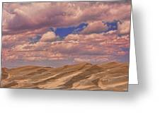 Great Sand Dunes And Great Clouds Greeting Card
