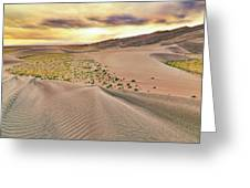 Great Sand Dunes Sunset - Colorado - Landscape Greeting Card