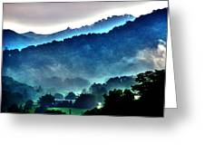 Great Smokey Mountains Greeting Card by Susanne Van Hulst