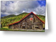 Great Smoky Mountains Barn Greeting Card