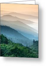 Great Smoky Mountains National Park Oconaluftee River Valley Sunrise Greeting Card