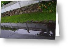 Great Wall Of Puddle Greeting Card by Ron Sylvia