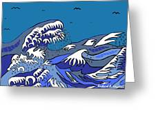 Great Wave 2011 Greeting Card