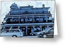Great Western Perth Cyan Greeting Card