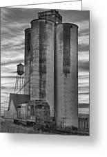 Great Western Sugar Mill Longmont Colorado Bw Greeting Card