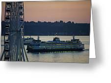 Great Wheel In Seattle Wa Greeting Card